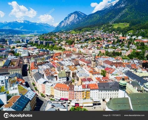 Innsbruck aerial view, Austria