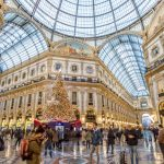 Luxury shopping mall in Milan, the fashion and design capital of the world, Italy